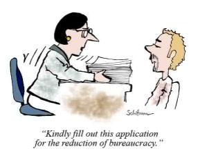 Customer's beraucracy