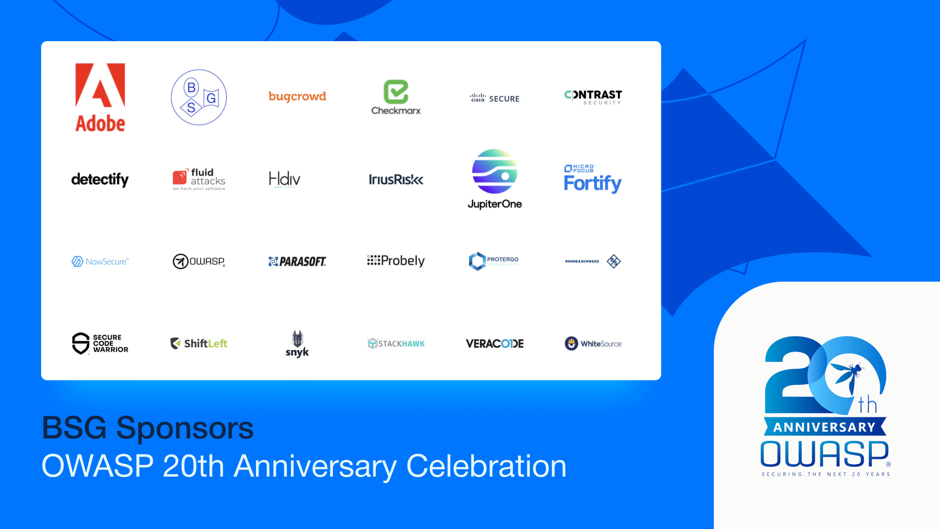 OWASP 20th Anniversary Celebration Sponsors - Berezha Security Group