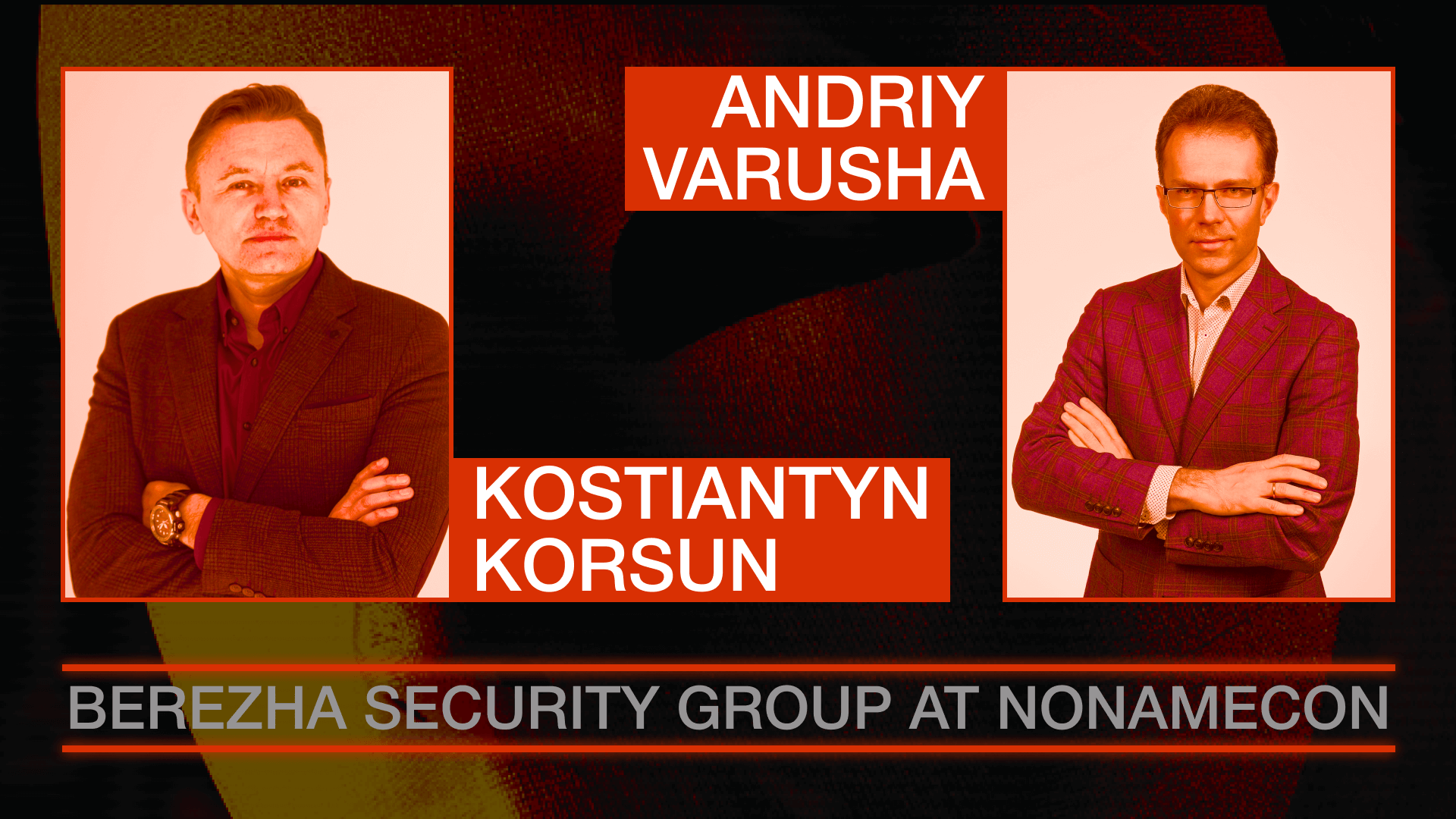 Berezha Security Group leaders at NoNameCon cybersecurity conference